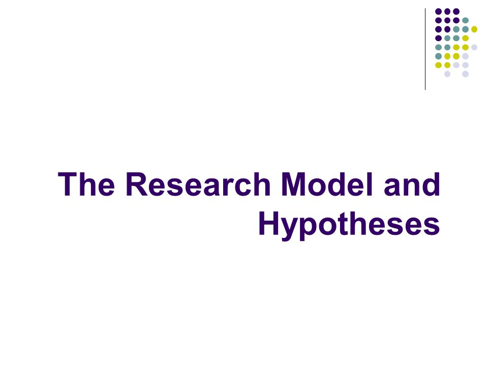 The Research Model and Hypotheses