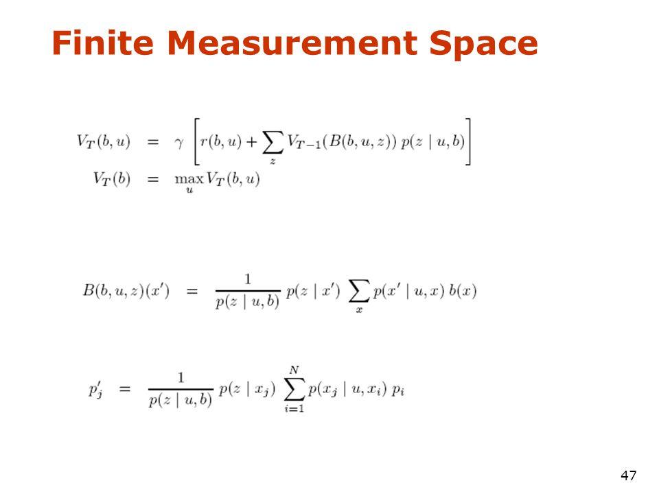 47 Finite Measurement Space