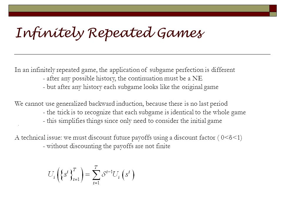 Infinitely Repeated Games.