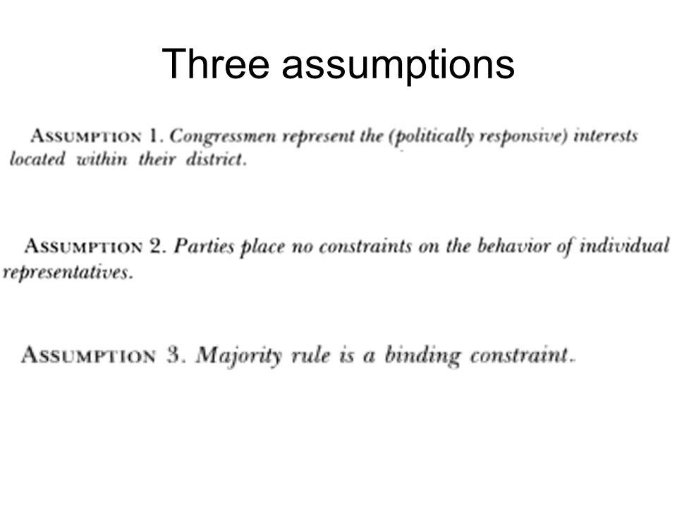 Three assumptions