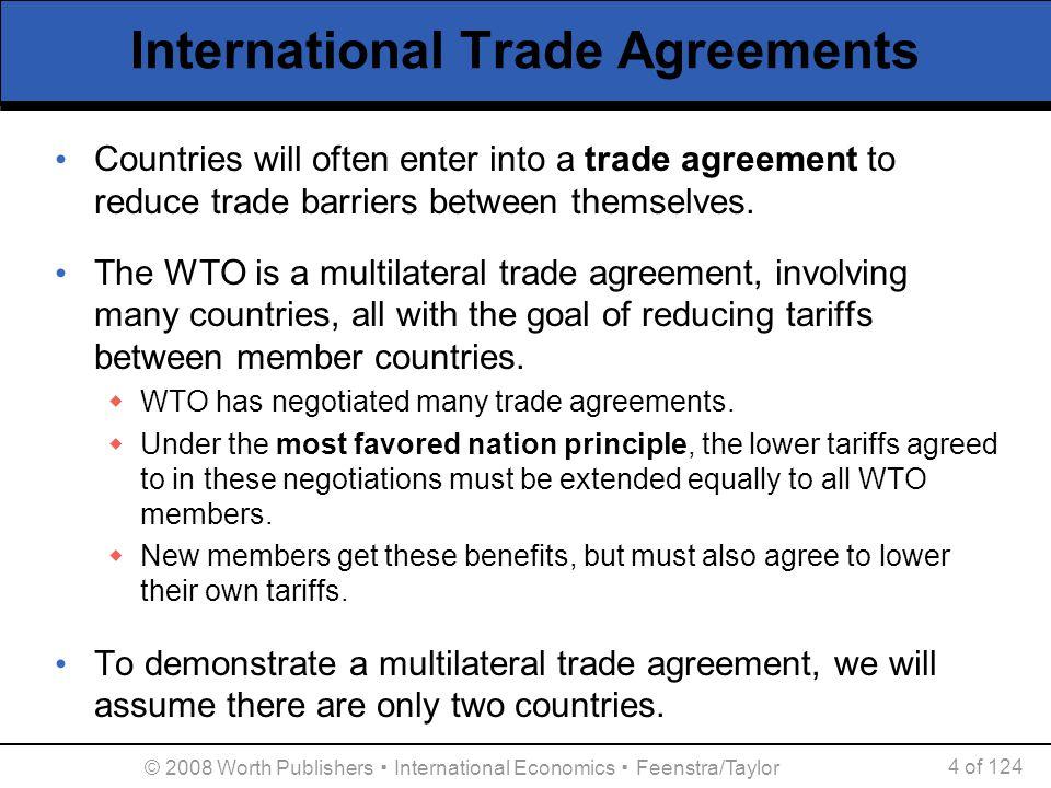 © 2008 Worth Publishers ▪ International Economics ▪ Feenstra/Taylor 45 of 124 International Agreements on the Environment U.S.