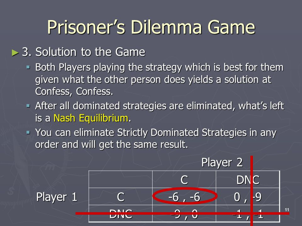 11 Prisoner's Dilemma Game ► 3.