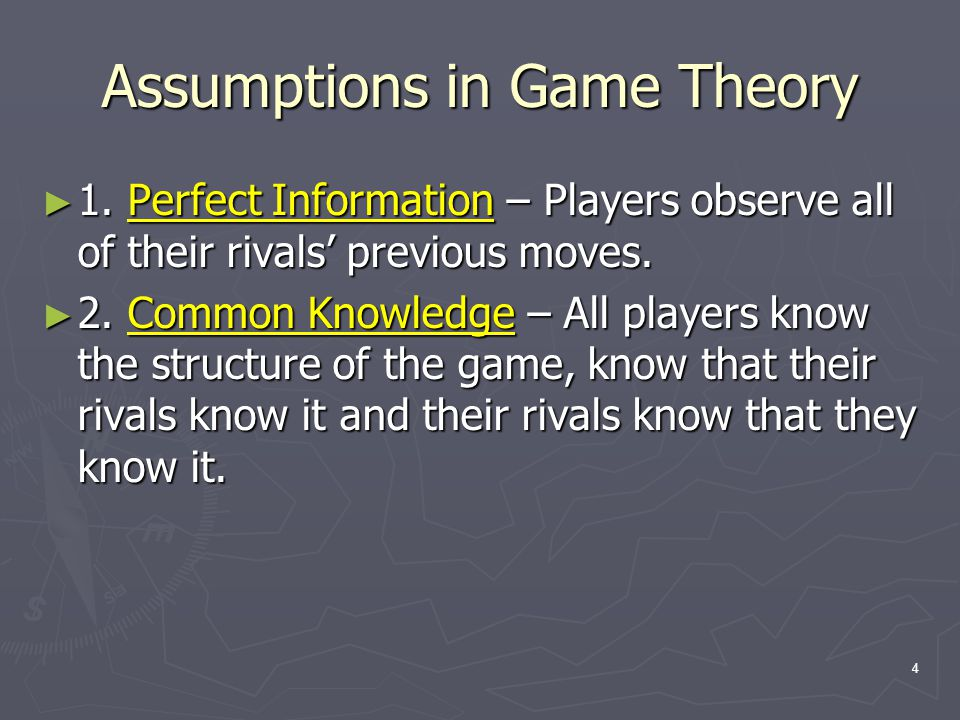 25 A Final Note on Nash Equilibrium ► Nash Equilibrium predictions are only accurate if each player correctly predicts what the other player is going to do.