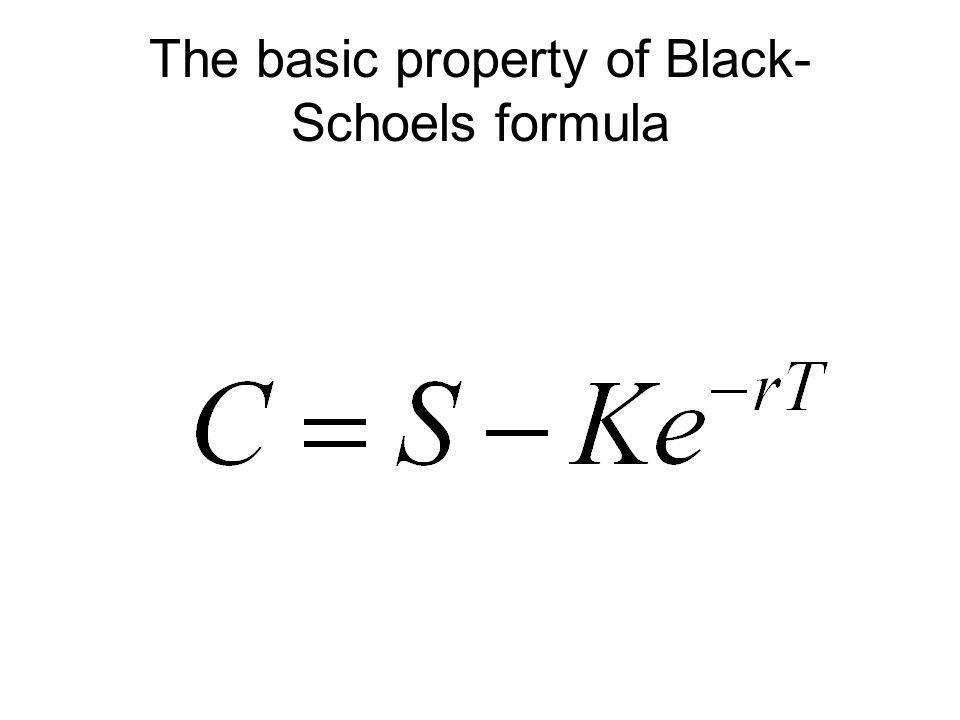 The basic property of Black- Schoels formula
