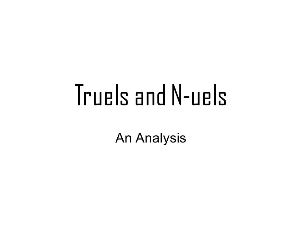 Truels and N-uels An Analysis