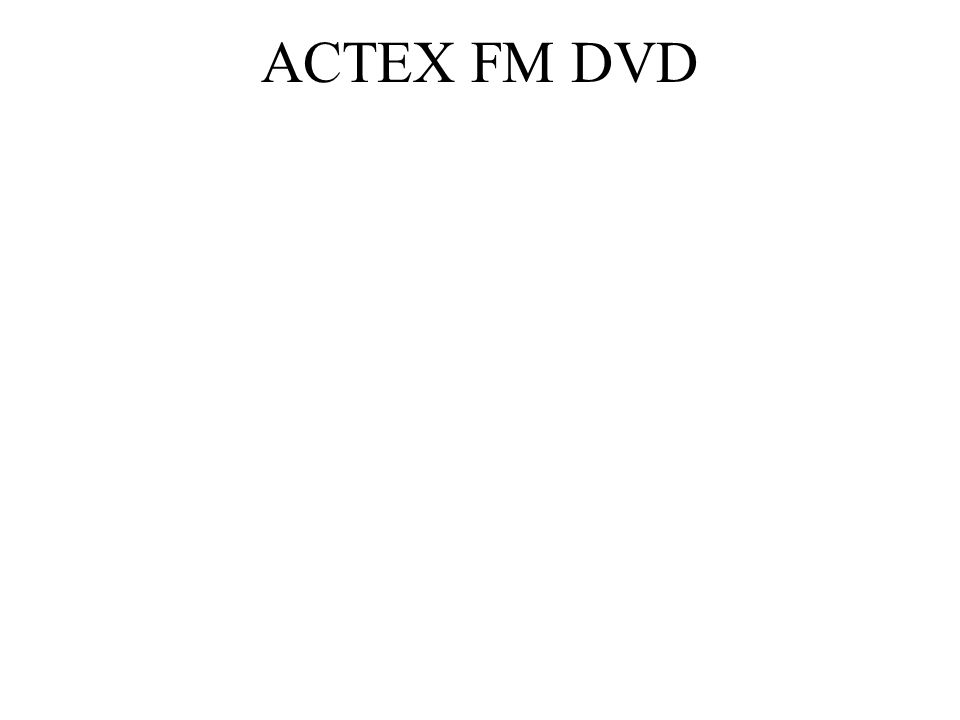 ACTEX FM DVD