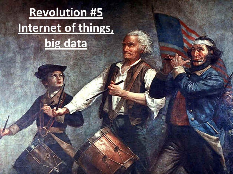 36 Revolution #5 Internet of things, big data