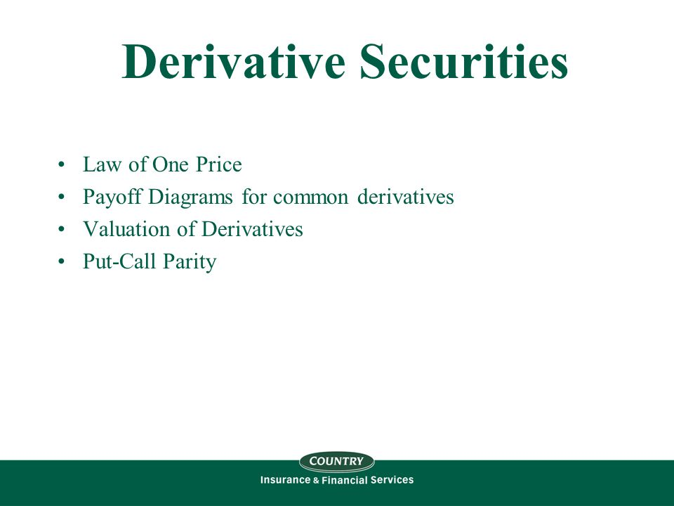 Forward Prices We can use the Law of One Price to get at what the theoretical strike price is for a forward contract…..