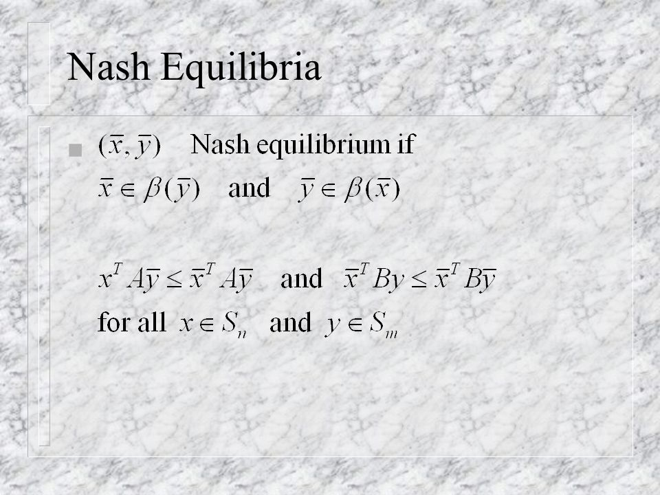 Nash Equilibria n
