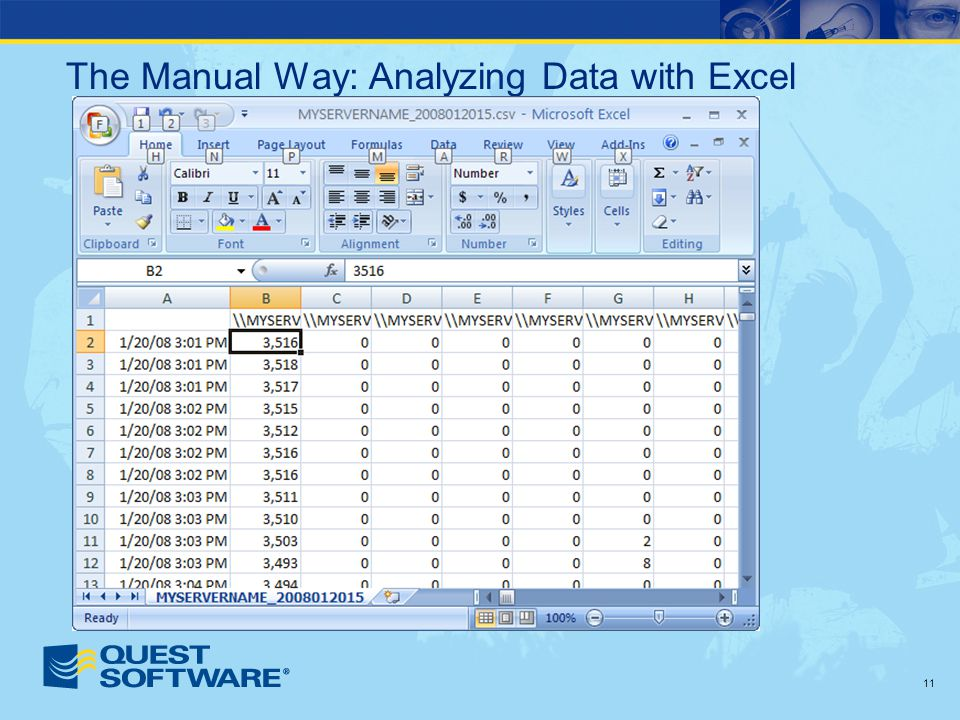 11 The Manual Way: Analyzing Data with Excel