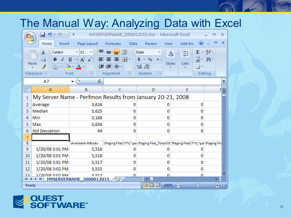 12 The Manual Way: Analyzing Data with Excel