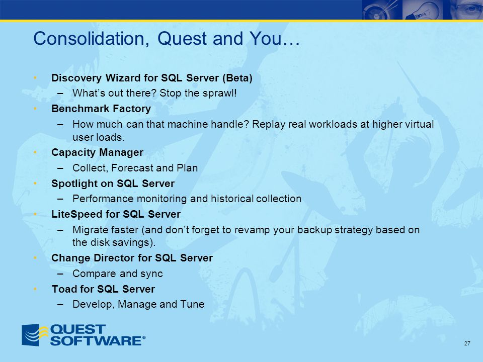 Consolidation, Quest and You… Discovery Wizard for SQL Server (Beta) –What's out there.