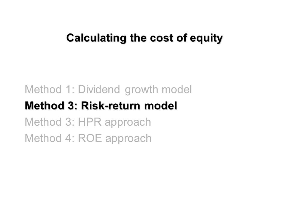 Dividend growth model: Advantages & Disadvantages Simple to understand and calculate Cannot be accurate without a good estimation of g Assumes the market is efficient