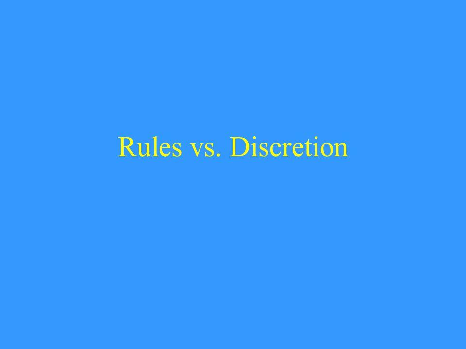 Rules vs. Discretion