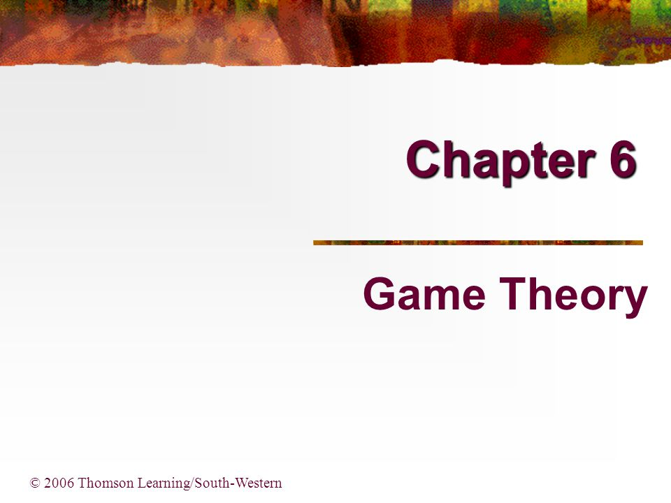 2 Basic Concepts All games have three basic elements: Players Strategies Payoffs Players can make binding agreements in cooperative games, but can not in noncooperative games, which are studied in this chapter.