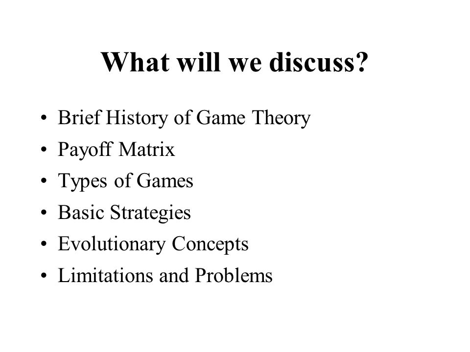 Brief History of Game Theory 1913 - E.
