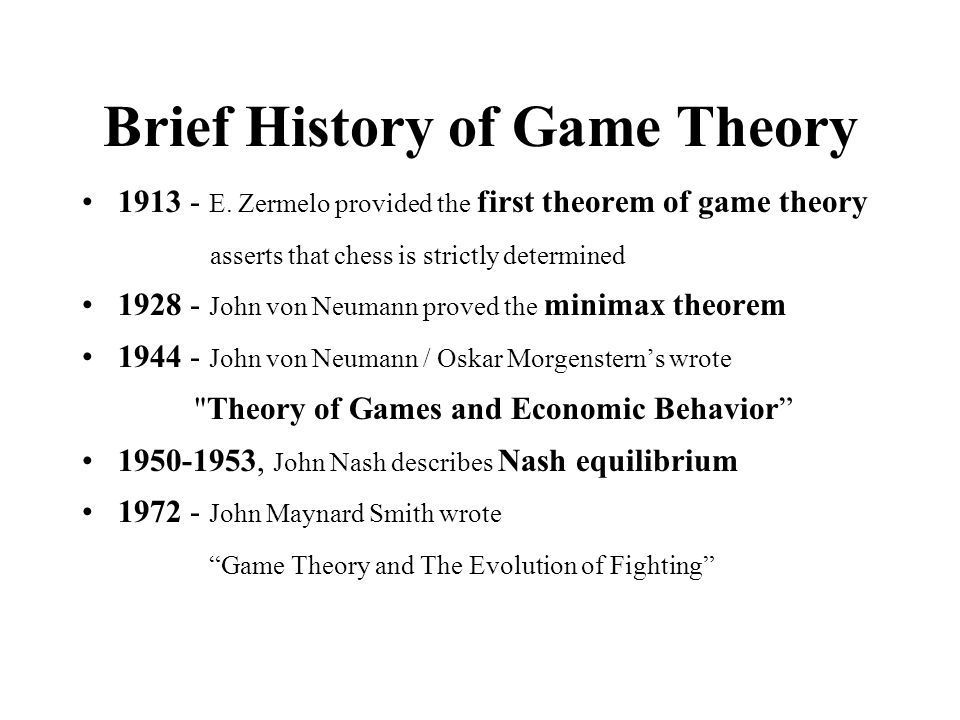 Summary What is game theory.
