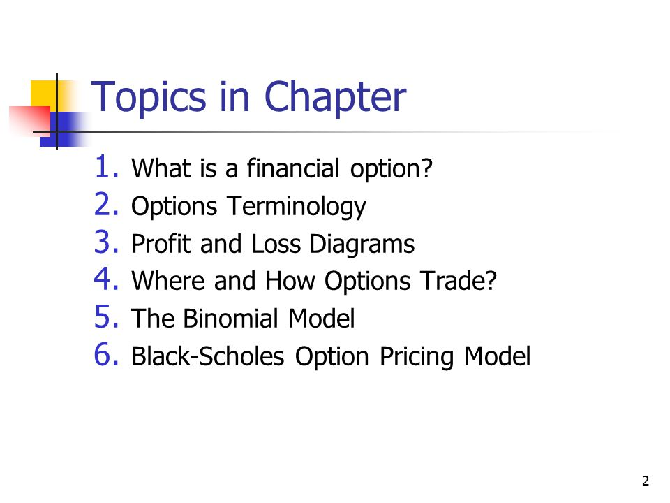3 1.What is a financial option.