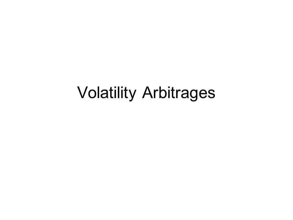 Volatility Arbitrages