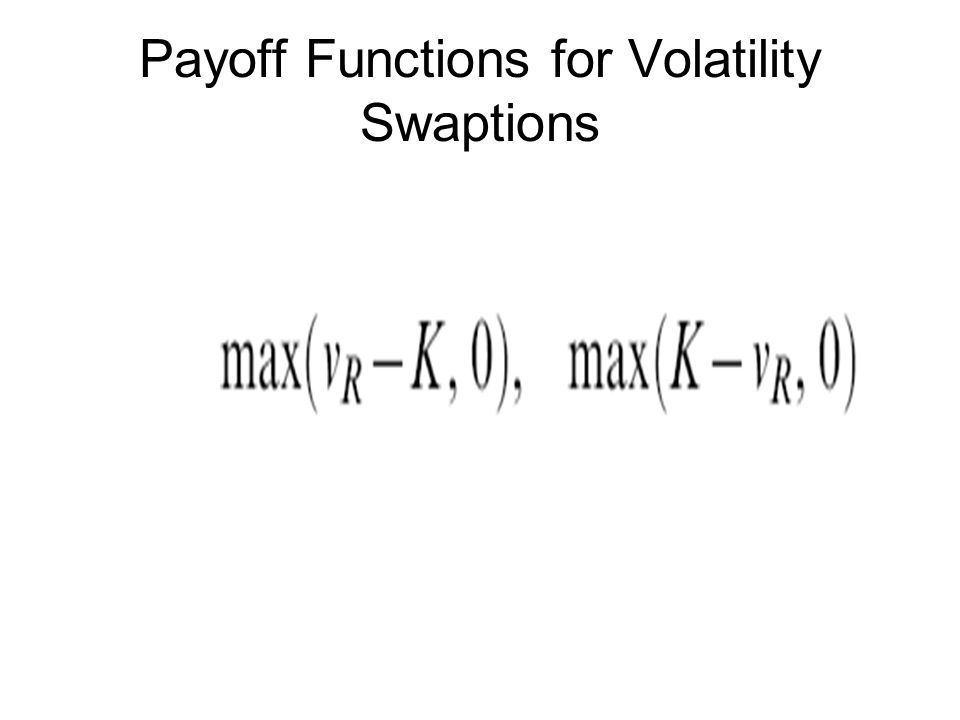 Payoff Functions for Volatility Swaptions