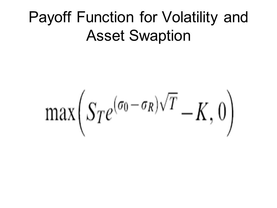 Payoff Function for Volatility and Asset Swaption
