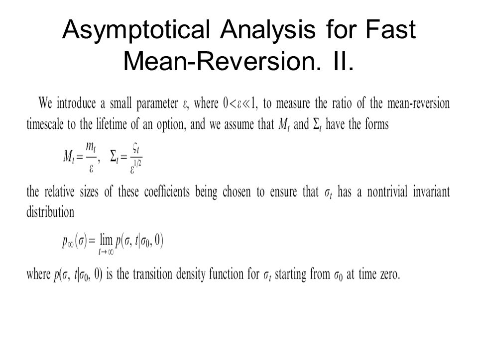 Asymptotical Analysis for Fast Mean-Reversion. II.