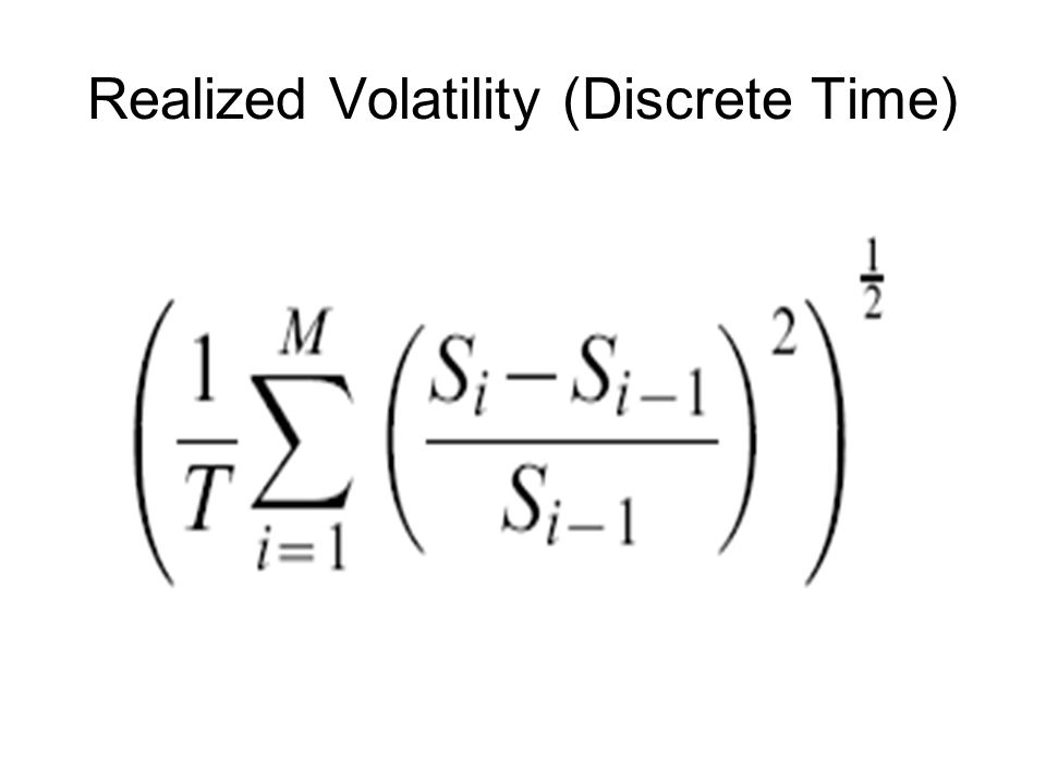 Realized Volatility (Discrete Time)