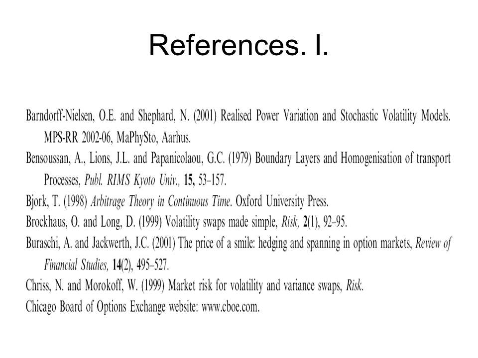 References. I.