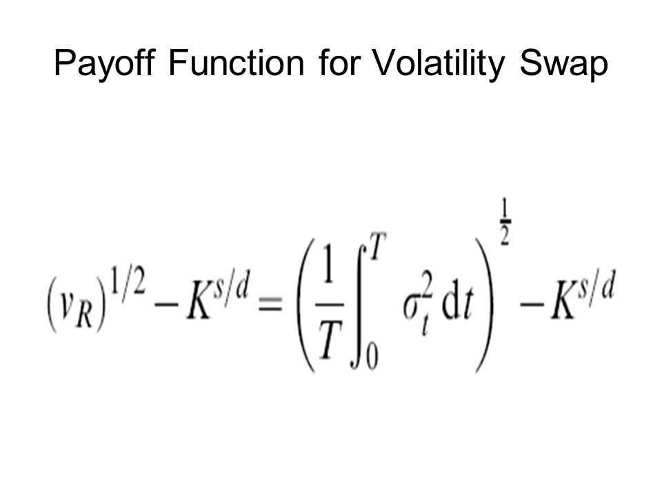 Payoff Function for Volatility Swap