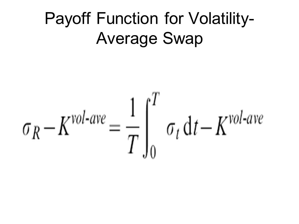 Payoff Function for Volatility- Average Swap