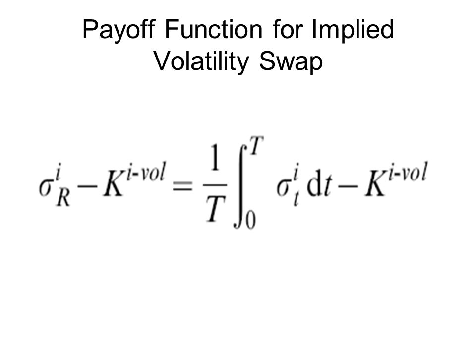 Payoff Function for Implied Volatility Swap