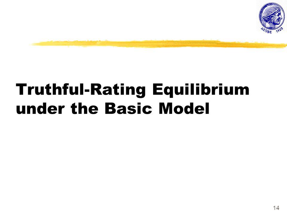 14 Truthful-Rating Equilibrium under the Basic Model