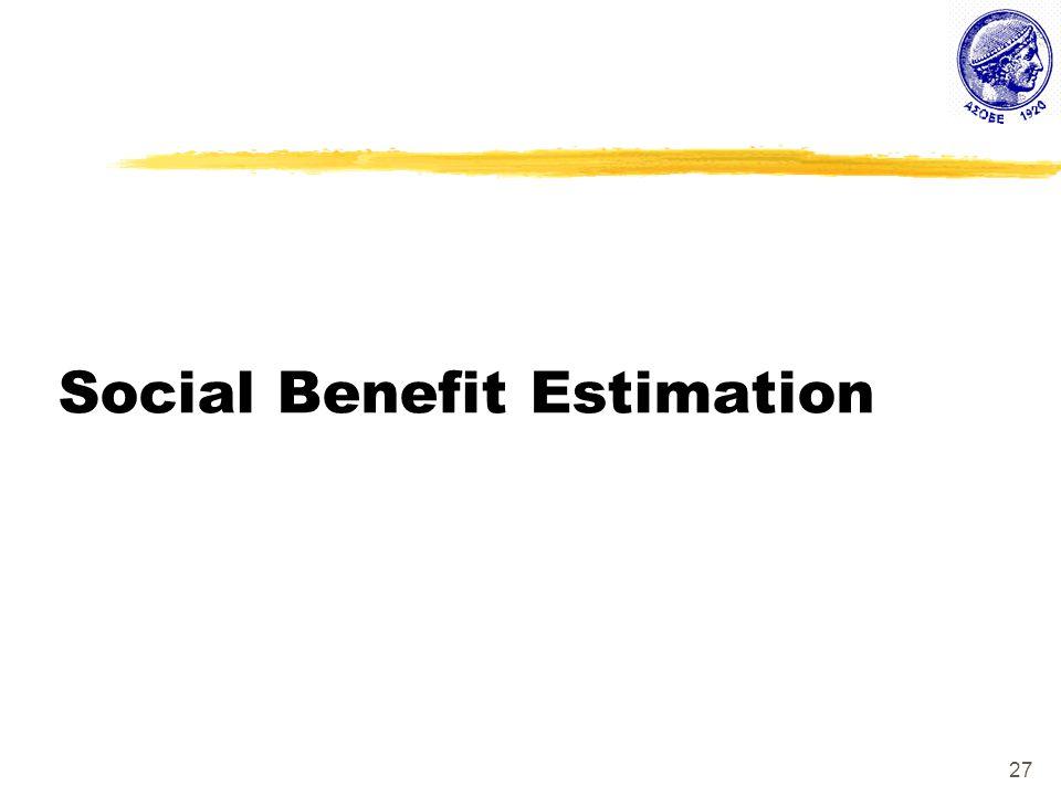 27 Social Benefit Estimation