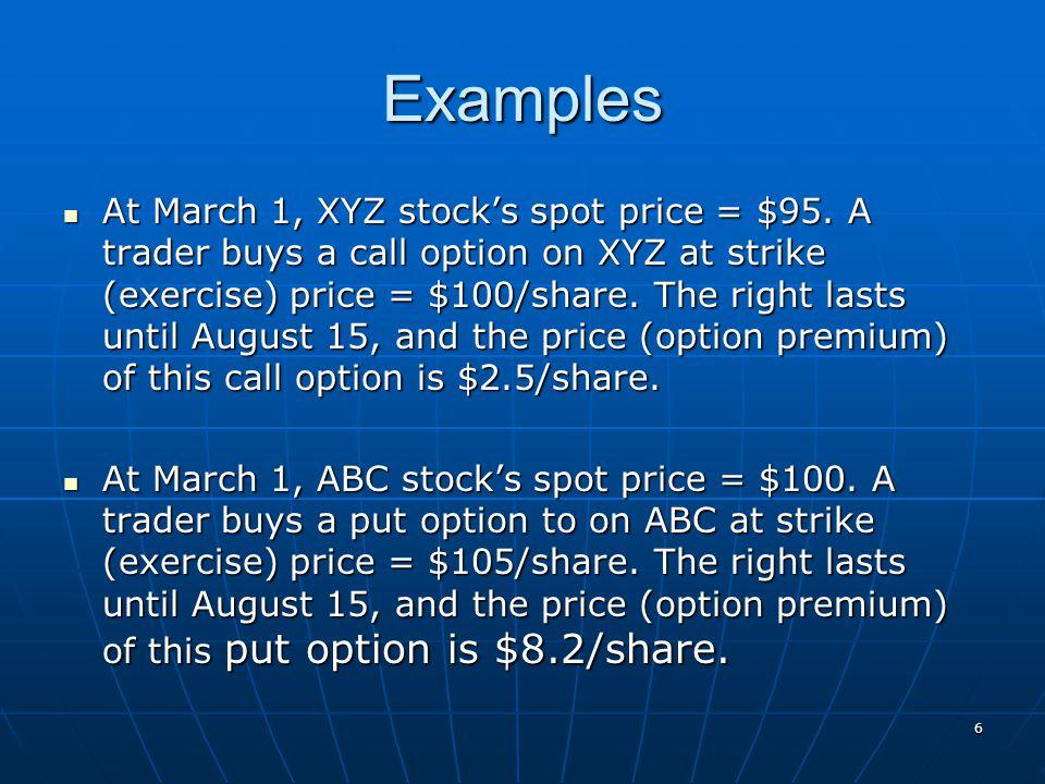 17 Payoffs of a Call Option Long Call at $20 Short Call at $20