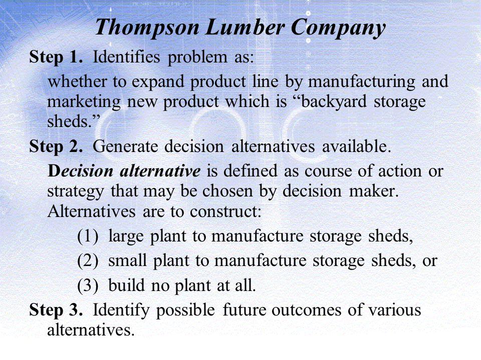 Thompson Lumber Company Step 1.