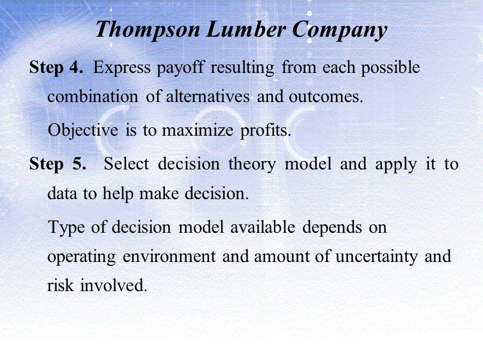 Thompson Lumber Company Step 4.