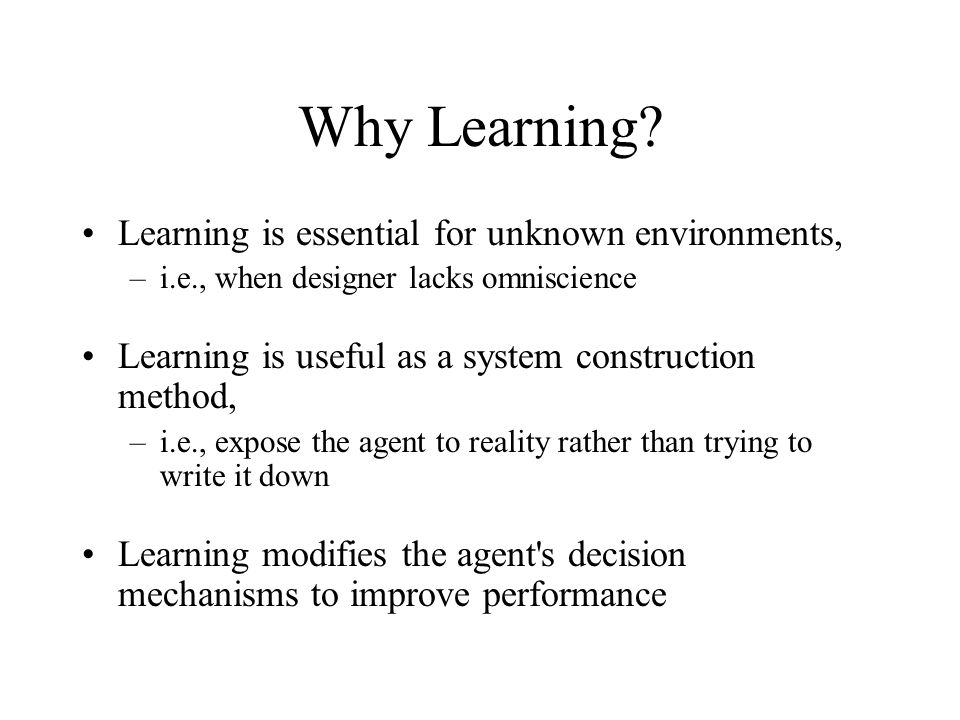 Some Open Questions… What are the unique requirements and conditions for Multiagent learning.