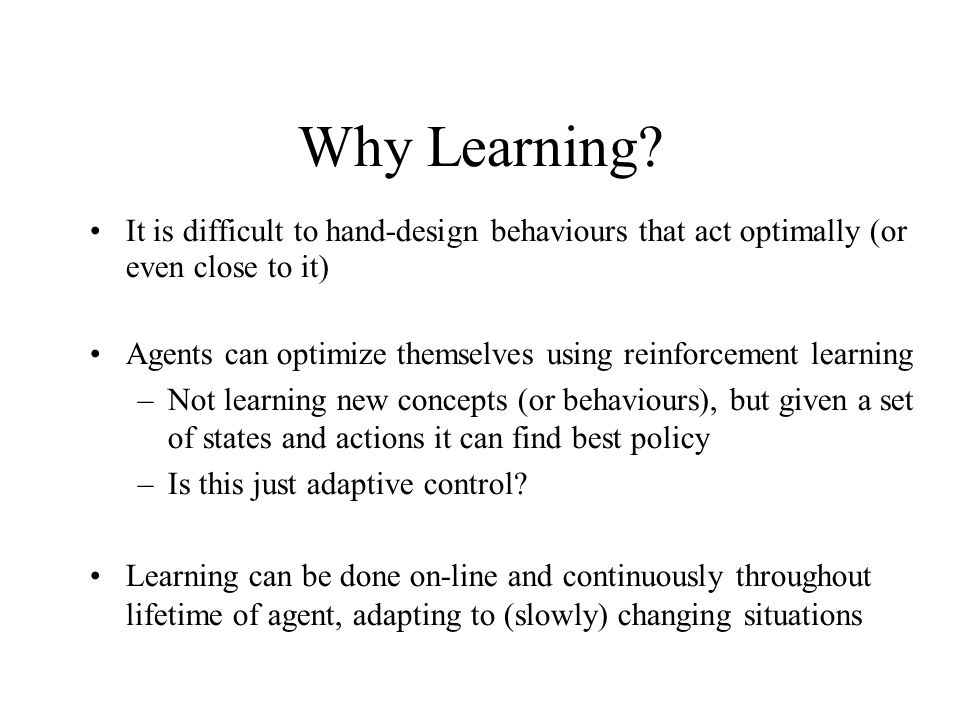 Reinforcement Learning & Multi-agent Reinforcement Learning