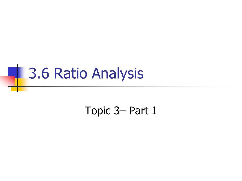 The Purpose of Ratio Analysis The profitability of a company is not the whole story of its financial health.