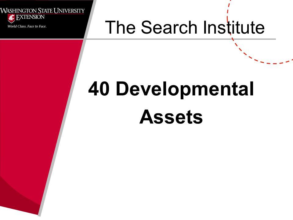 The Search Institute 40 Developmental Assets