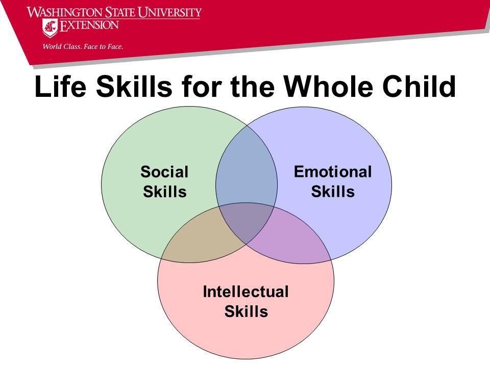 Intellectual Skills Social Skills Emotional Skills Life Skills for the Whole Child