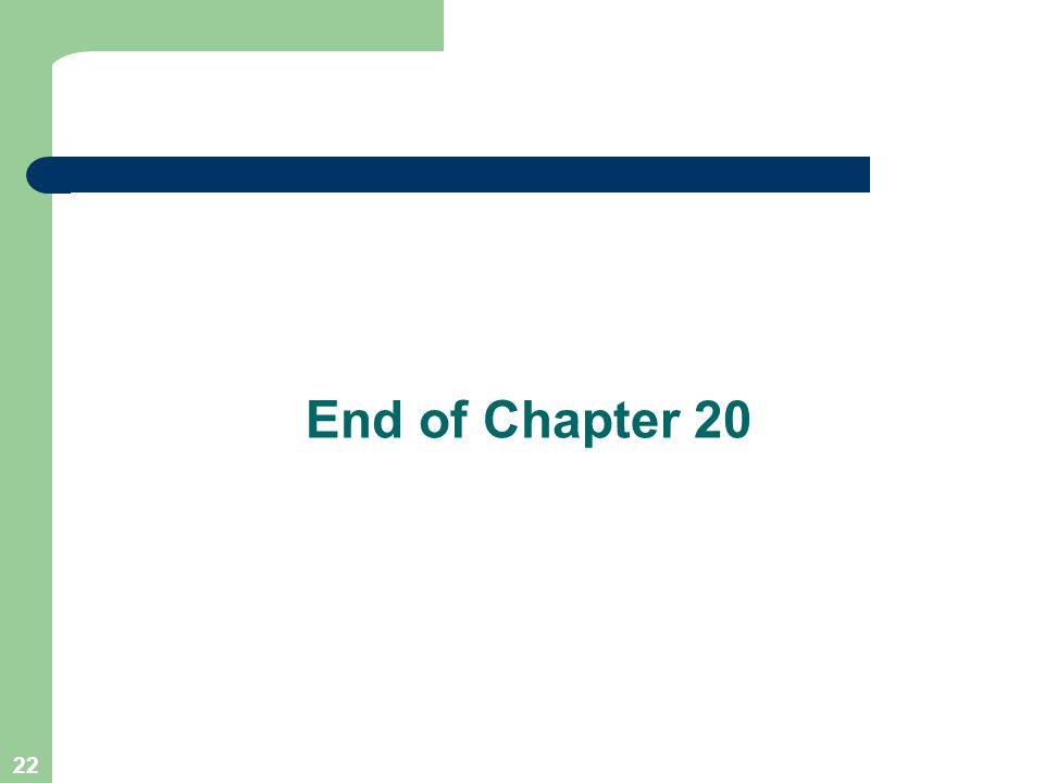 22 End of Chapter 20