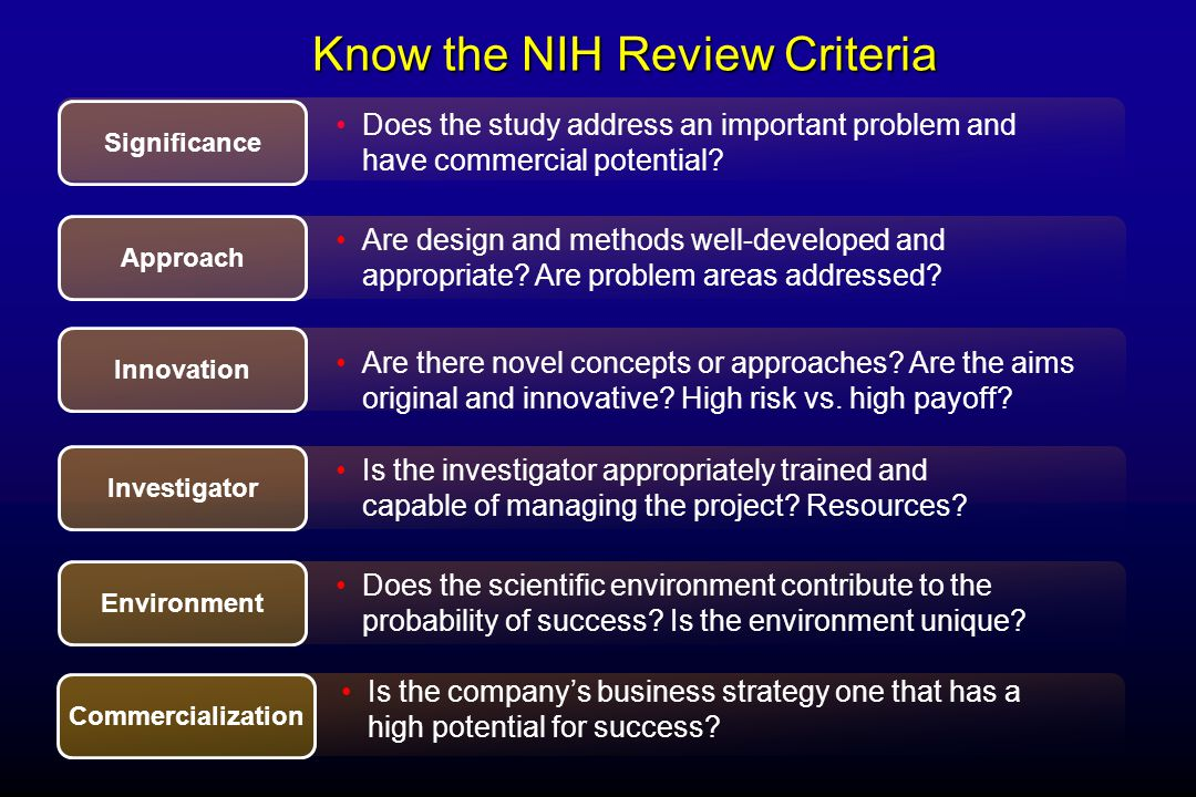 Key #1 Understand the NIH Process in DetailKey #1 Understand the NIH Process in Detail  Key #2 Start Application Process Early.