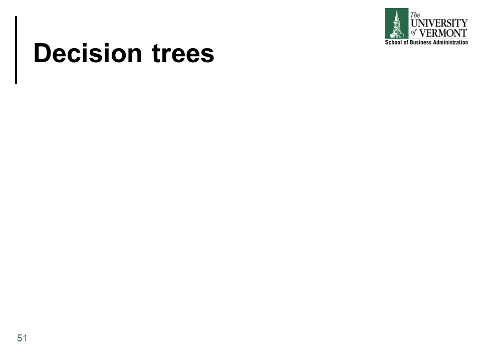 Decision trees 51