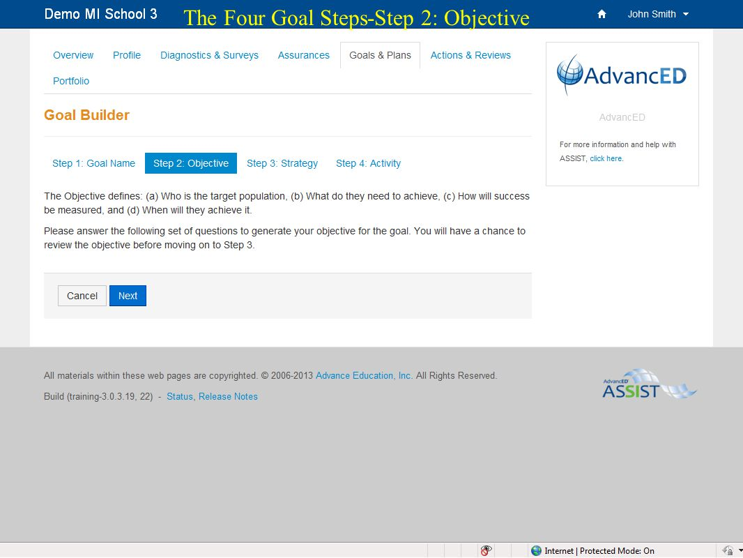 20 The Four Goal Steps-Step 2: Objective