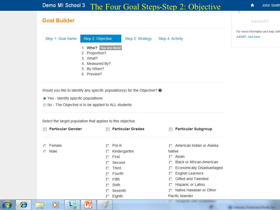 21 The Four Goal Steps-Step 2: Objective