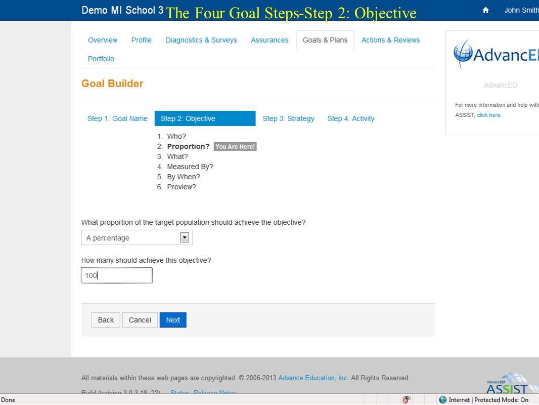 22 The Four Goal Steps-Step 2: Objective