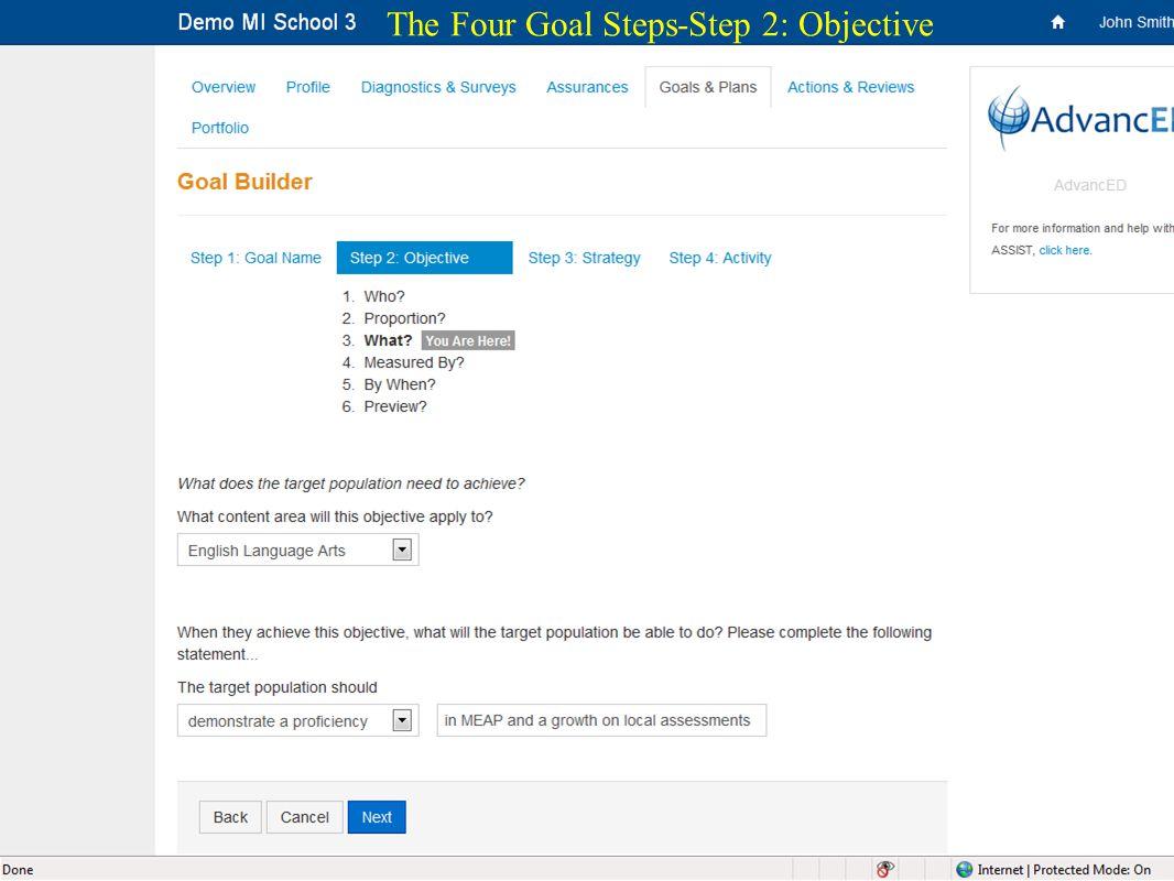 23 The Four Goal Steps-Step 2: Objective