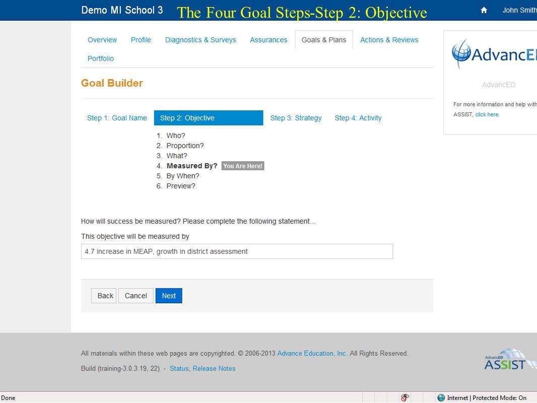 24 The Four Goal Steps-Step 2: Objective