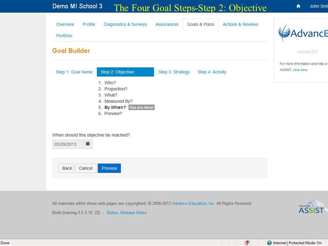 25 The Four Goal Steps-Step 2: Objective